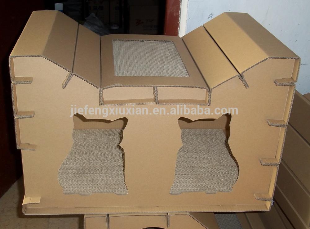 Как сделать домик из коробки для кроликов своими руками 58
