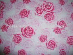100% cotton rose print fabric