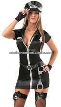 H6032 black beauty girl costume,sex costume cop,hot cop uniform costume