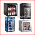 Exhibidor de refrigeración con puerta de vidrio, minibar