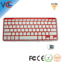 High Performance 2.4Ghz Slim USB Compact Wireless Keyboard with Mini Receiver