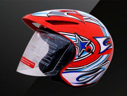 表面ヘルメット、半分のヘルメット.motorcycleのヘルメットを開けなさい