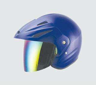 Casque ouvert, moitié casque. Casque de moto