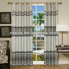 New Design! Popular Curtain Fabric! Grommet Top Curtain Design(chintz tende)