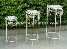 Decorative Garden Roud Plant Stand Set