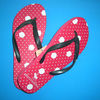 2014 NEW design fashion fuzzy flip flop slippers