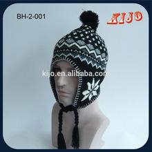 Custom Winter Hat Knitted earflap hat
