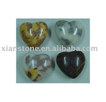 Natural marble heart stone craft