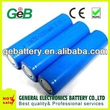 Hot sale !!cylindrical battery 18650 li-ion 3.7V 2200mAh Trade Assurance