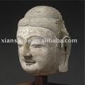 石造りの旧式な仏の表面彫像
