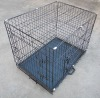 metal wire dog cage (with the railing)