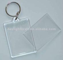 hotting sale !! Promotional photo frame blank plastic key chain