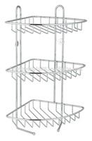 3 TIER STAINLESS STEEL CORNER SHOWER RACK CADDY/SHELF/BATHROOM ORGANIZER