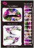 2015hot! beauty temporay decal eye tattoo sticker&lip tattoo sticker &nail tattoo stickers set