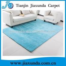 100% polyester light blue microfiber soft shaggy rug