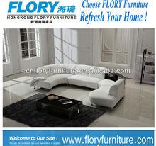 u shape sofa leather covered F1363