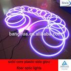 solid core plastic side glow fiber optic light