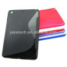 S line design colorful tpu case for ipad mini