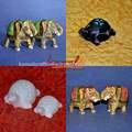 Taş oymacılığı ev dekoratif handpainted heykeller fil- kaplumbağa- hayvan özel tasarım