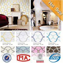 Jy-p-l01 vendita calda mattonelle di mosaico bianco legami design orafo argento lanterna mosaico decorativo piastrelle corridoio