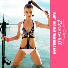 Wholesale Lady photos sex open bikini swimwear with zipper