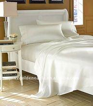 Top-rated Luxury 4pcs White 100% Silk Sheet Set