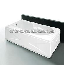 Top Sanitary Ware Acrylic Bathtub Rectangle Bathtub Smooth Surface Tub Skirt Side Bathtub Series