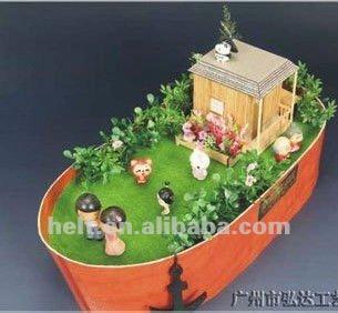 نمط جديد 2013 قارب خشبي، خشبية سفينة نوح، دمى خشبية diy نموذج، دمى خشبية ملونة بيت الدمية