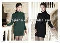 De longitud femenino suéter de invierno vestidos / 100% de la cachemira puente