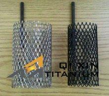 platinum coated titanium mesh tube for hydrogen evolution generator