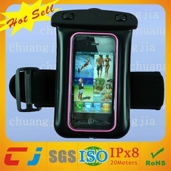2014 Wholesale Pvc Waterproof Pouch for Swimming with Earphone and Armband