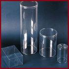 custom transparent plastic clear round boxes