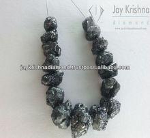 raw uncut black diamond for designer jewelry chain