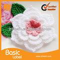 nuevo personalizados hechos a mano de flores de tela con el centro de cuentas