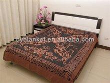 Cheapest nice jacquard Thread blanket bedsheet