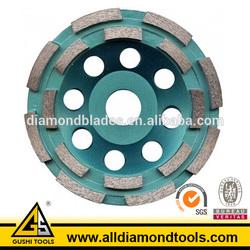 Sintered Abrasive Concrete Double Row Diamond Grinding Cup Wheels