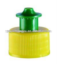 plastic pull push cap for bottle