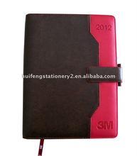 pu hardcover agenda diary with megnet closure