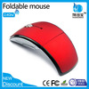 Mix Color 2.4Ghz Optical USB Wireless Foldable Arc Mouse with Rubberized Top