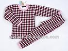 ,kids pajama set,pajamas,nightwear,sleepwear for children with cute check pattern