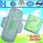 240mm Anion Sanitary Pad/Sanitary Towel/Sanitary Napkin with Soft PE Cover