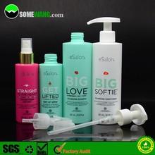 PE cosmetic sprayer bottle, small plastic bottle for shampoo, PE plastic conditioner bottle