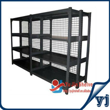 Four levels modular Double sided wire mesh metal racks shelving