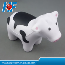 pu promotional cheap gifts cow shaped animal stress toy