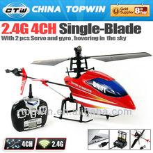 2.4 G 4CH única lâmina RC helicóptero com 2 pcs Servo e gyro [ REH446879 ] apache helicóptero 4CH