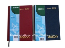 Hard cover agenda diary with foil printed for promotion gift