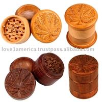 wooden smoking grinders