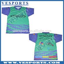 Custom Sublimation Sports Trainning T Shirts Short Sleeve Shirts