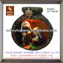 polyresin holy family nativity set