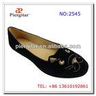 latest design lady shoes/woman velvet slipper
